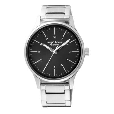 Roven Dino羅梵迪諾 時空騎士時尚腕錶-銀X黑(RD1313-176B)/40mm
