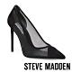 STEVE MADDEN-MESHA 時尚拼接透膚簍空細跟高跟鞋-黑色 product thumbnail 1
