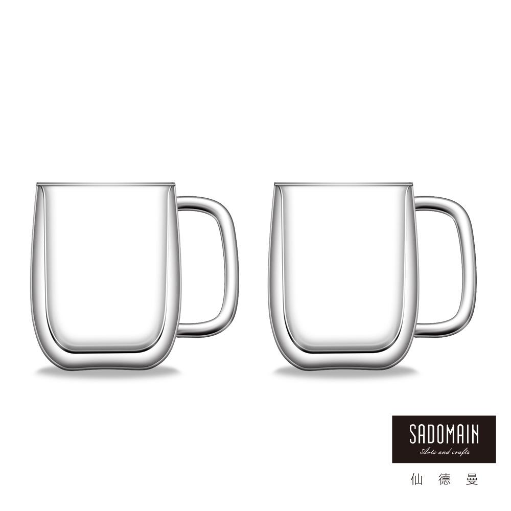 仙德曼SADOMAIN  雙層玻璃咖啡馬克杯450ml (2入組)