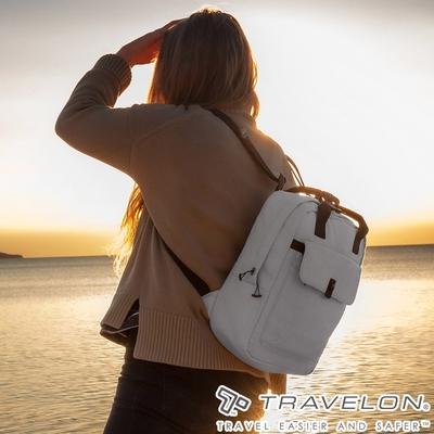 【Travelon美國防盜包】ORIGIN抗菌防盜後背包TL-43553卡其/RFID/防割保護網/休閒旅遊包