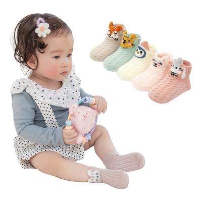 colorland【5雙入】嬰兒襪 春夏立體薄棉童襪 造型襪子