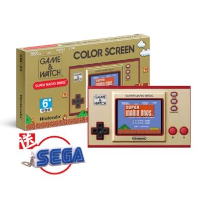 任天堂 Game & Watch: 超級瑪利歐兄弟 攜帶型遊戲機 (平輸版) 送SEGA 有聲鑰匙圈