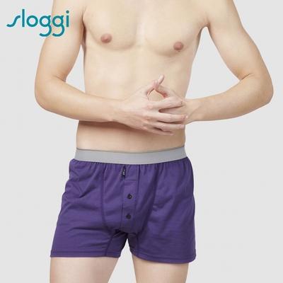 sloggi sloggi Men Organic Cotton系列寬鬆平口褲 M-XXL 深紫藍 90-230 7A
