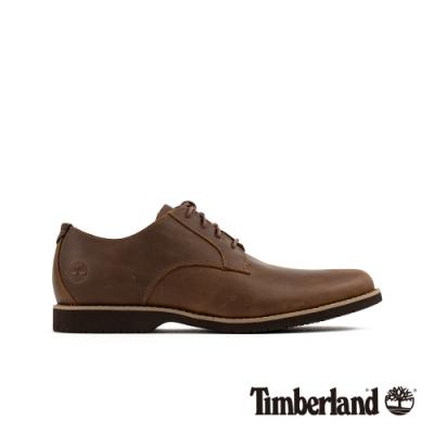 Timberland 男款中棕色全粒面休閒鞋|A1XSM