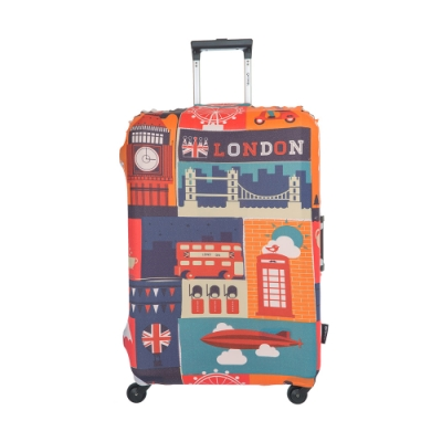 【OUTDOOR】行李箱保護套-英倫-M ODS19B02MEN