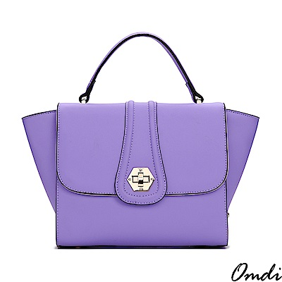 Omdi 優雅淑女色系手提包(紫色)