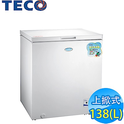[DM主打品] TECO東元 138L 上掀式冷凍櫃 RL1417W