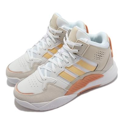adidas 休閒鞋 5th Quarter 高筒 運動 女鞋 愛迪達 異材質拼接 舒適 球鞋穿搭 白 橘 GY7519