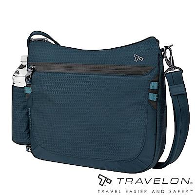Travelon美國防盜包 休閒旅行輕便包防割鋼網斜背包/側肩包TL-43128藍18
