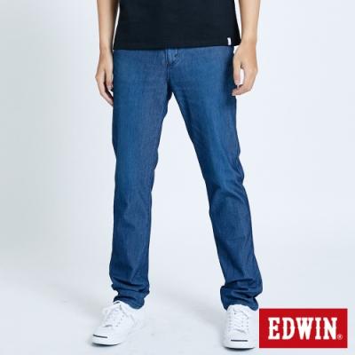 EDWIN JERSEYS 迦績PK EJ6 透氣中腰AB牛仔褲-男-酵洗藍