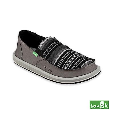 SANUK-VAGABOND MIXER 混合編織圖紋懶人鞋-男款(灰色)