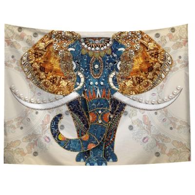 半島良品 北歐風裝飾掛布-大象系列/印度風情-大象 150x130cm