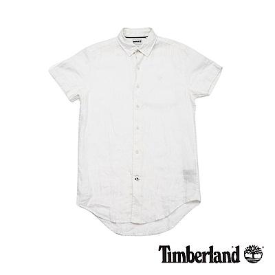 Timberland 男款白色短袖襯衫 | A1N3XK93