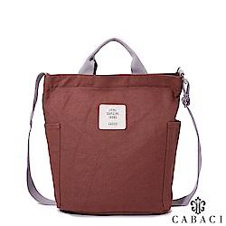 CABACI 清新色系斜背手提帆布包