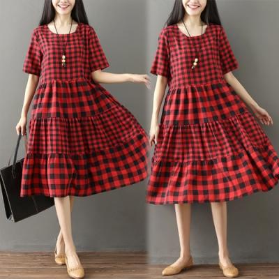 【韓國K.W.】(現貨) 百搭格紋元素洋裝
