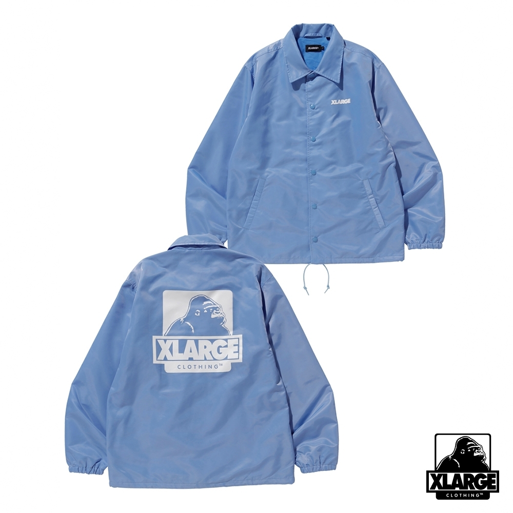 XLARGE OG PRINTED COACHES JACKET教練外套-藍