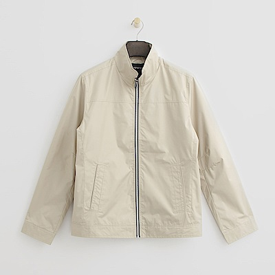 Hang Ten - 男裝 - 立領純色夾克--淺卡其