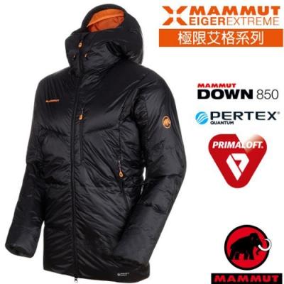 長毛象 男新款 Eigerjoch Pro 高山攀岩極限加強版保暖連帽鵝絨外套_黑