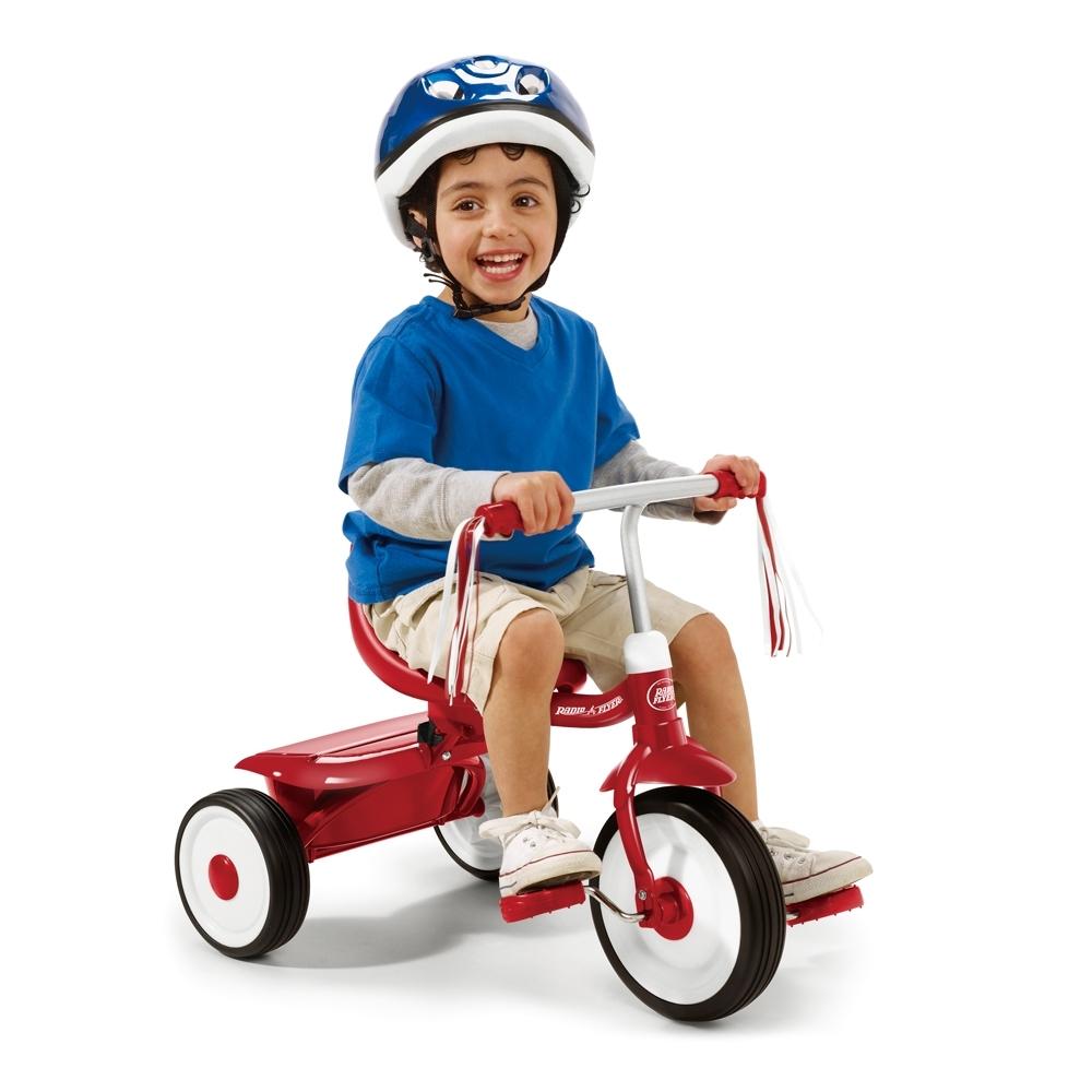 RadioFlyer 紅騎士折疊三輪車(平把)#415A型