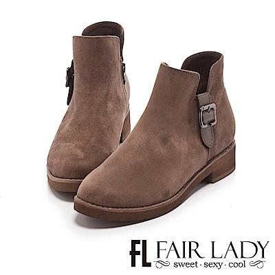 Fair Lady 側面扣飾短靴 摩卡