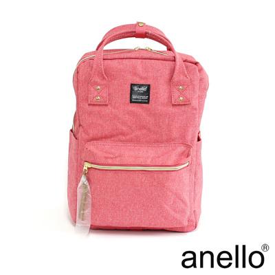 anello 獨特混色花紋方型後背包 粉紅色