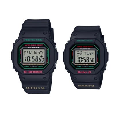 CASIO卡西歐 G-SHOCK&BABY-G 聖誕對錶 LOV-19B-1