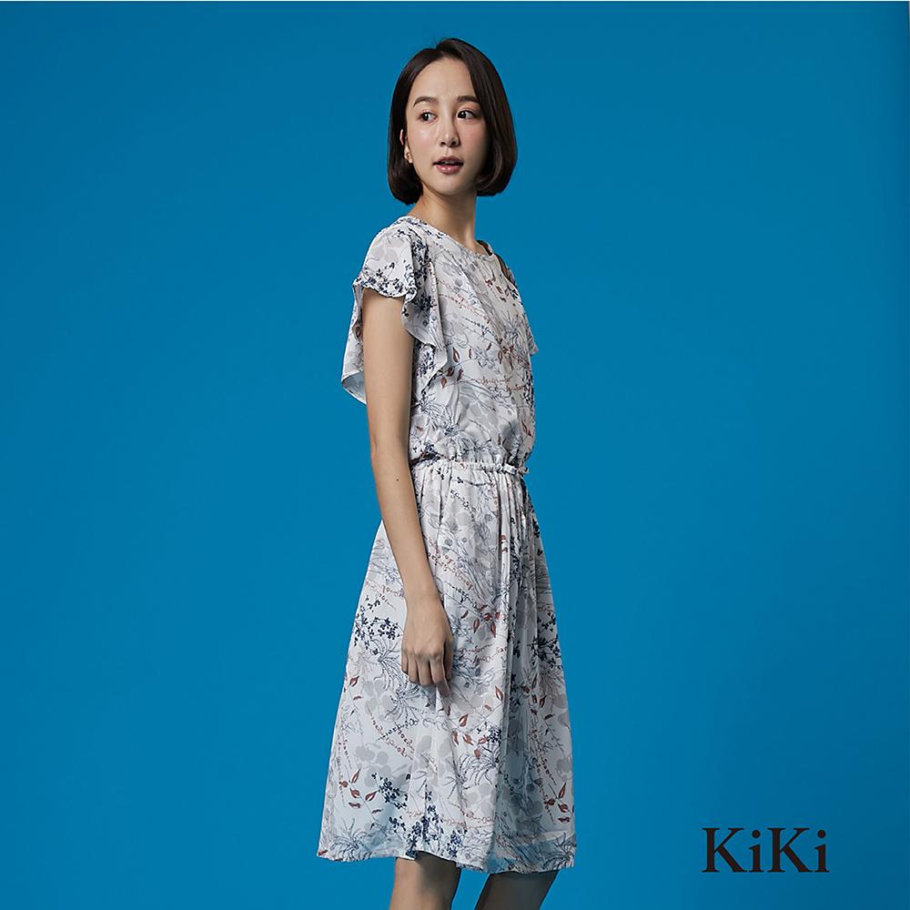 【KiKi】浪漫小碎花雪紡-洋裝(共二色)