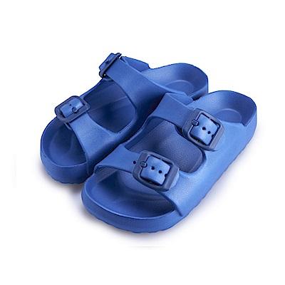 BuyGlasses 輕量造型防水兒童拖鞋-藍