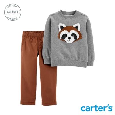 【Carter s】 浣熊娃娃2件組套裝(12M-18M) (台灣總代理)