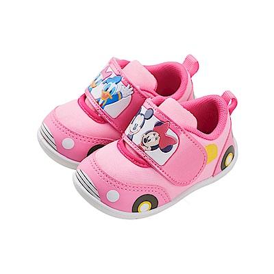 迪士尼童鞋 米奇家族 車車造型 學步鞋-粉