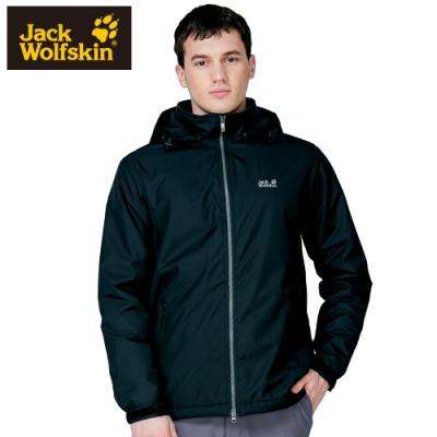 【Jack Wolfskin 飛狼】男 防風防潑水保暖外套 內刷毛 『黑色』