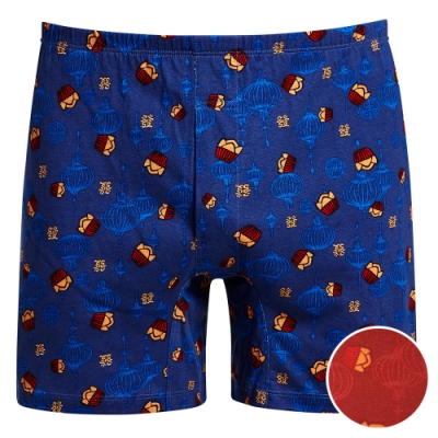 DADADO-發發 M-3L 印花四角男內褲(紅)舒適寬鬆