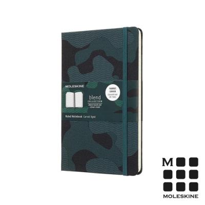 MOLESKINE BLEND18限定版筆記本(L型橫線)-迷彩綠