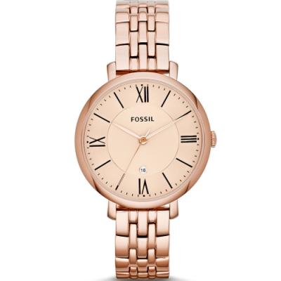 FOSSIL Jacqueline 經典不鏽鋼手錶(ES3435)36mm
