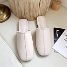 韓國KW美鞋館 最新上架素面平底穆勒鞋-米