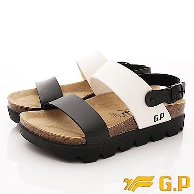GP時尚涼拖  時尚涼鞋款-SE67-81白黑(女段)