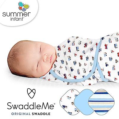 美國 Summer Infant 嬰兒包巾 懶人包巾薄款 -純棉 3入 交通工具