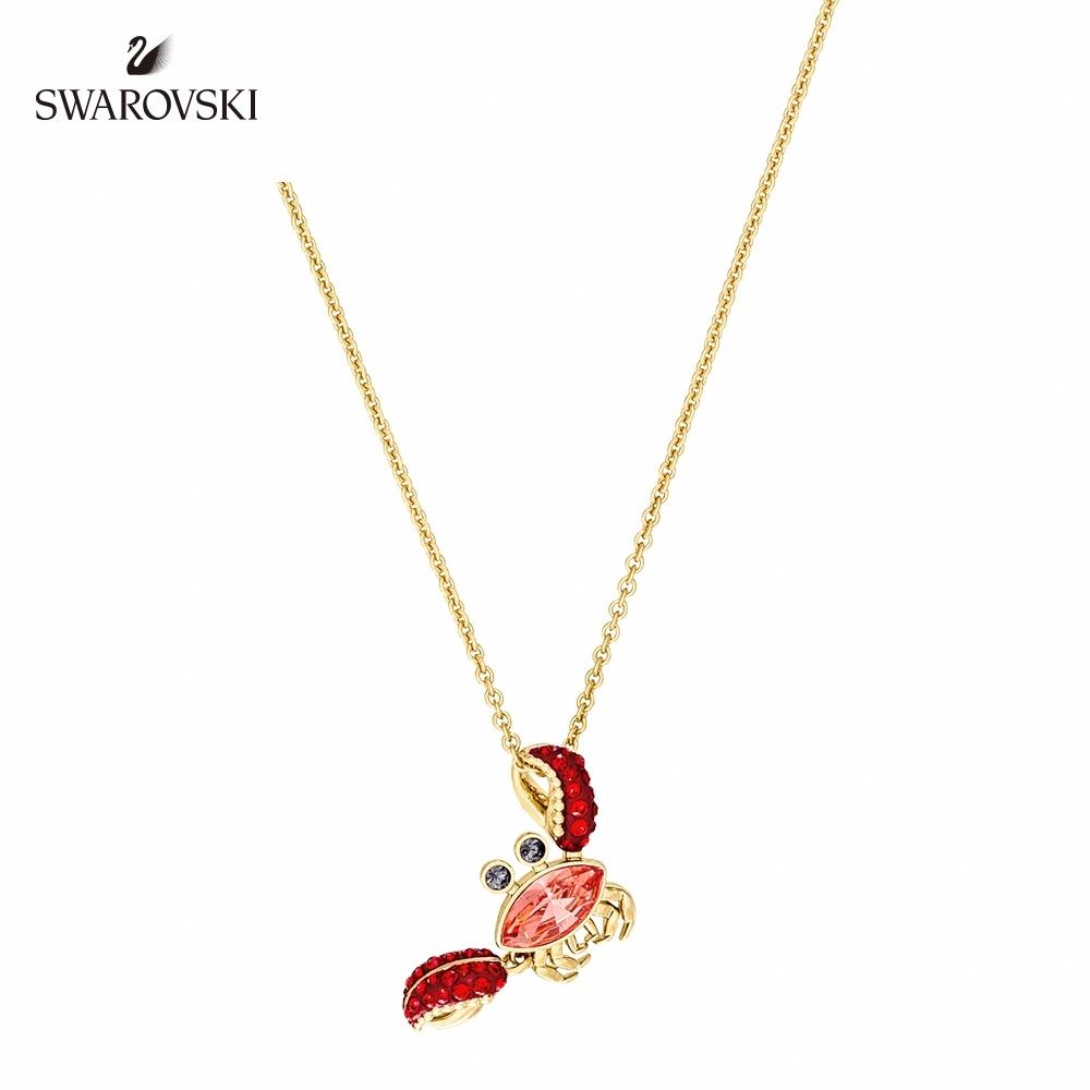 施華洛世奇 Ocean Crab 金色可愛趣致螃蟹項鏈