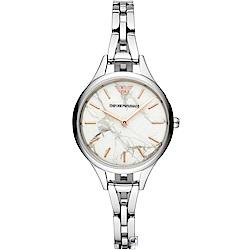 Armani亞曼尼Gianni大理石紋手鍊錶(AR11167)
