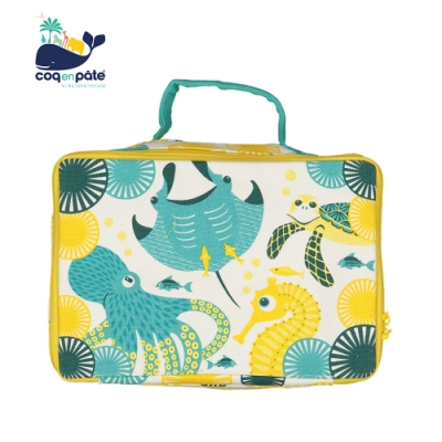 【COQENPATE】法國有機棉布包-方方兒拎出門- 海洋