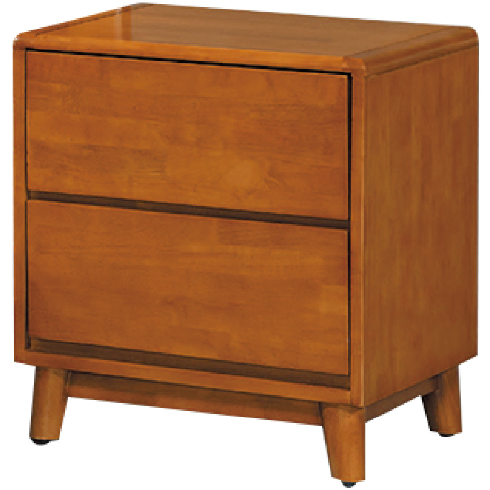 綠活居 湯利典雅1.6尺實木床頭櫃/收納櫃-48x43x55cm免組