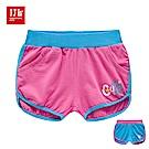 JJLKIDS Cute英字刺繡造型休閒短褲(2色)