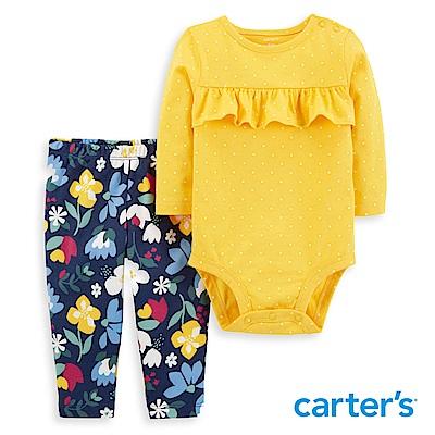 Carter's 荷葉花卉印圖2件組套裝