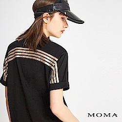 MOMA 後片金屬配條T恤
