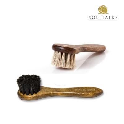 木柄馬毛刷 15cm 保養 鞋乳 工具【德國Solitaire】