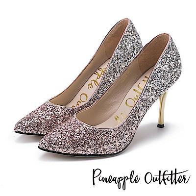 Pineapple Outfitter 璀璨名媛 漸層亮片尖頭高跟鞋-金色