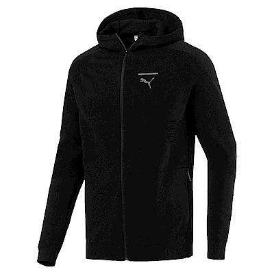 PUMA-男性流行系列Pace EvoKNIT連帽外套-黑色-歐規