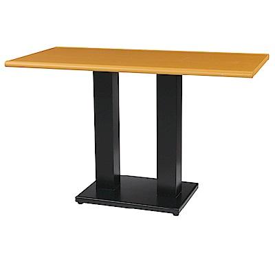 綠活居 阿爾斯環保4尺塑鋼雙腳座餐桌/休閒桌(二色)-120x60x74cm免組