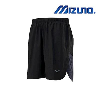 MIZUNO 路跑短褲 黑X黑格 J2TB905209