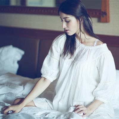 曼黛瑪璉 Marie One 七分袖連身睡裙 (白色)
